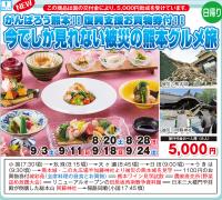 復興支援お買物券付 今でしか見られない被災の熊本グルメ旅